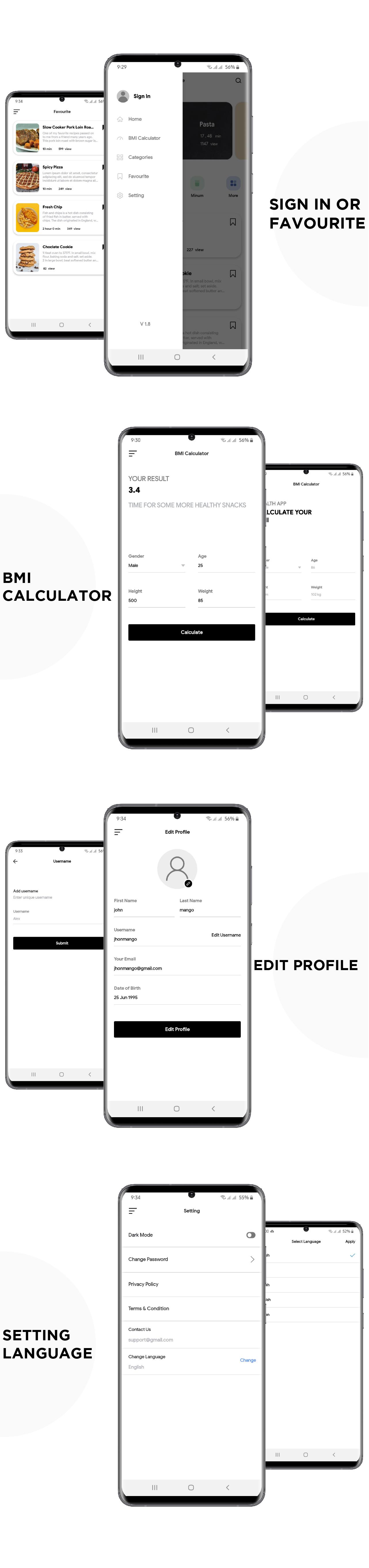 Flutter Recipe App UI KIT Template - 2