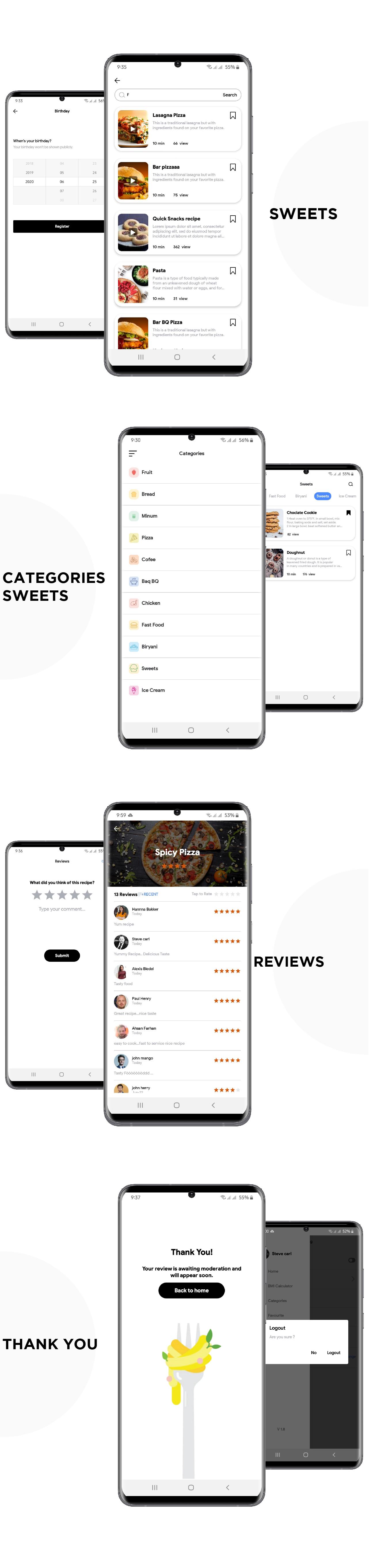 Flutter Recipe App UI KIT Template - 3